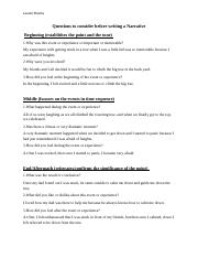 Questions to consider before writing a Narrative.docx