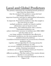 Local and Global Predictors