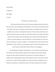 of mice and men reaction essay example emily johnson h english 4 pages great gatsby essay example