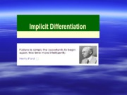 Chapter-2 Implicit Differetiation and Related Rates