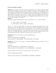 Lecture 12 Capital Structure Theory Solutions