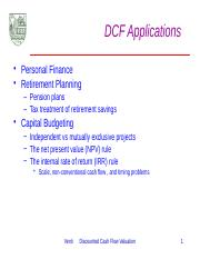 A.5 DCF Applications