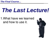 IVC Psyc 1 Summer 12 MW Lecture 14 (Last Lecture)