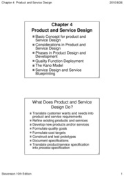 Chapter 04 Product and Service Design (10th)