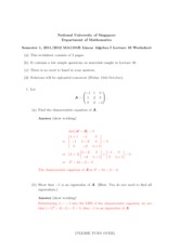 Lecture 16 Worksheet Solution