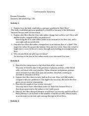 Lab 2 - Exercise 11 Blood Analysis Name Elise Steinbeck Activity 1 ...