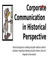 2015 HISTORY Corporate Communication