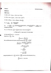Derivatives of Trigonometric Functions problem with answers