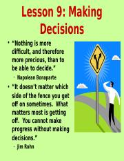 Lesson 9 Decisions.ppt