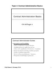 04-Contract Administration Basics
