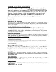 hius 221 exam 1 review sheet