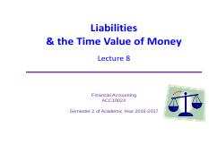 Lecture 8 Current Liabilities WITH SOLUTIONS
