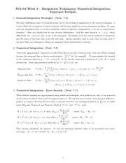 Chapter 3 : integration techniques for improper integrals class notes