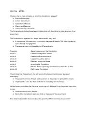 Chapter 3 Section 1 Notes Government