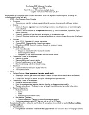 PSYC 3082 Test 2 Study Guide