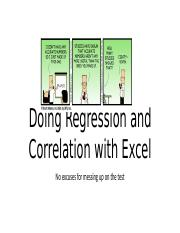 Doing Regression and Correlation with Excel.pptx