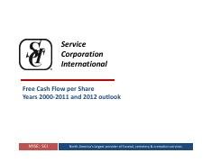 SCI Free Cash Flow April 2012