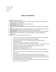 Module 8 - Notes and Vocabulary