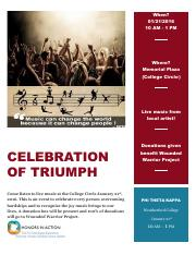CELEBRATION OF TRIUMPH