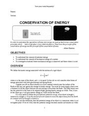 Lab Conservation Of Energy