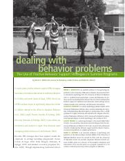 Dealing with behavior problems sumer camp