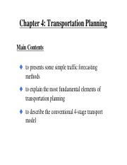 Chapter 4 Transportation Planning