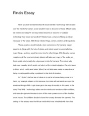 The robot essay