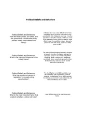 Flashcards Unit II - Political Beliefs and Behaviors