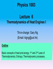 Lecture 6 Thermal I