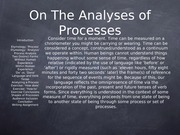 On analyzing processes