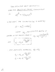 Study Guide on Calculating Effective Mass