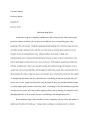 ESSAY Negative Effects of a Higher Minimum Wage.docx