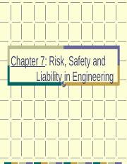 Chapter 3 Safety-Risk-Liability