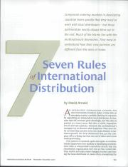 seven rules of international distribution The 2017 florida statutes: title vi completed questionnaires must be kept in a separate file for later distribution by the clerk to the international child.