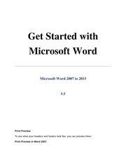 5.5 Print Preview in Word 2007 and Word 2010