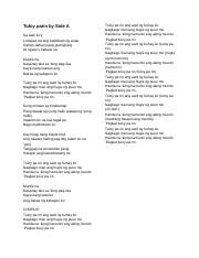 Tagalog Songs Lyrics