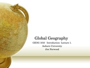 Global Geography Norwood  INTRODUCTION  Lecture 1.