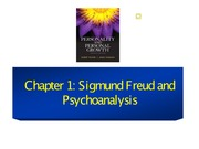 Chapter 1 Sigmund Freud and Psychoanalysis