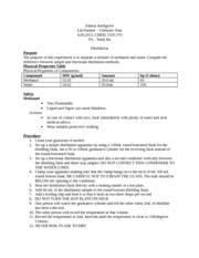 fractional distillation lab report