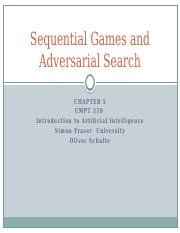 Chapter 5 Multiple Agents and Adversarial Search