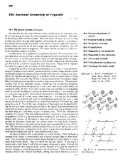 Feynman Physics Lectures V2 Ch30 1963-02-10 Internal Crystal Geometry.