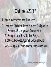 Christian Rebels in the Philippines 3-21-17