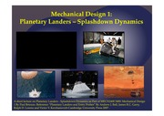 MECH2400 5400 Mechanical Design Planetary Landers - Splashdown Dynamics