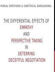 BERS C3-Moral Emotions N Unethical Bargaining- The Differential Effects of Empathy and Perspective T