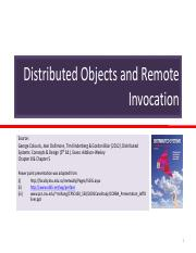 W04_(1)_Distributed Objects and Remote Invocation
