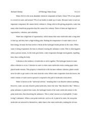 ap bio essay 2012