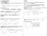 Lecture Notes on Definite Integrals
