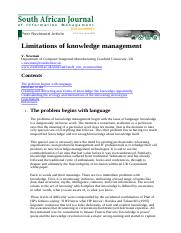 Limitations of knowledge management.pdf