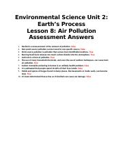 Environmental Science Unit 2 Lesson 8 Air Pollution.docx