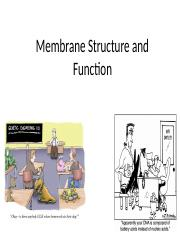 5-Membrane Structure and Function-STUDENTVERSION.pptx